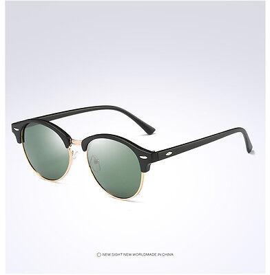 Fashion Vintage UV400 Outdoor Shades Women Mens Retro Round Polarized Sunglasses 10
