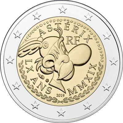 2 Euro Frankreich Cu/Ni 2019 Asterix Obelix Idefix bfr st Stempelglanz Blister 2