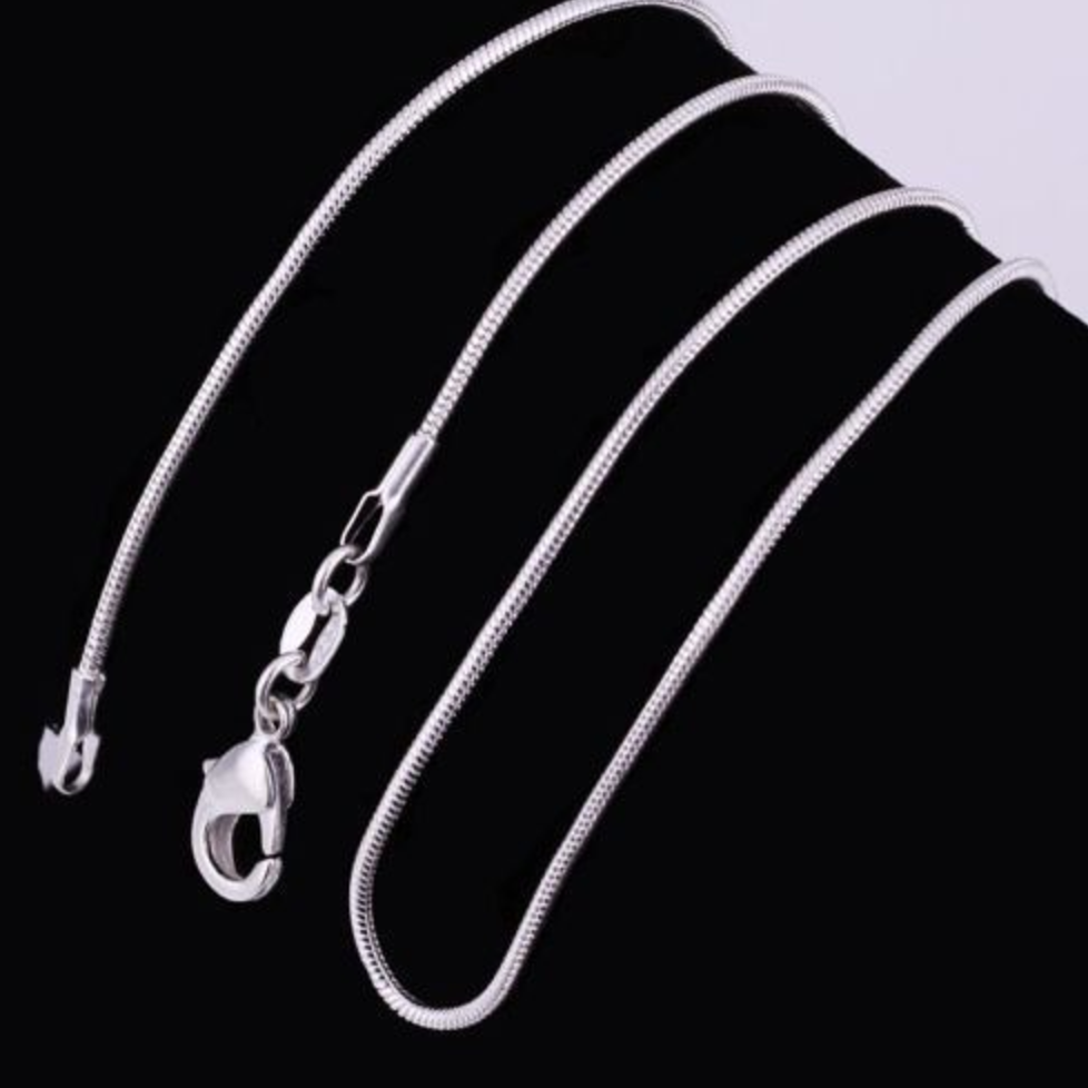 Wholesale 5pcs 925 Sterling Silver Snake Chain Necklace 16-24 inches Lot 3