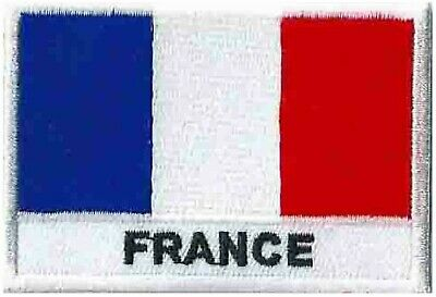 Écusson patche patch drapeau France Français 70 x 45 mm brodé à coudre 2