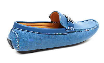 4bd4d9c1f3717 ... Mocassini Uomo Casual Eleganti Blu Chiaro Azzurro Estivi Scarpe  Calzature Shoes 3