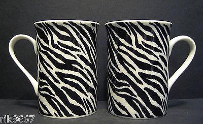 A Set Of Six 6 Data Animal Prints Panama Fine Bone China Mugs Cups To Clear 4