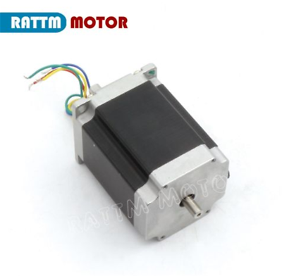 4 Axis 76mm Stepper Motor Nema23 270oz-in Dual Shaft+TB6560 Driver+Board CNC Kit 3