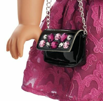 American Girl MERRY MAGENTA Pink Outfit Purse Dress Shoes Christmas    NO Doll 3