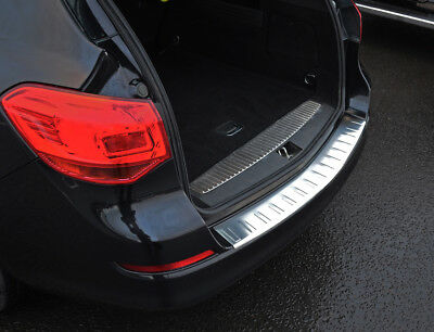 Brushed for Opel//Vauxhall ASTRA H Estate 2004-2009 Stainless Steel CHROME Rear Bumper Protector Sill Scratch Guard Cover