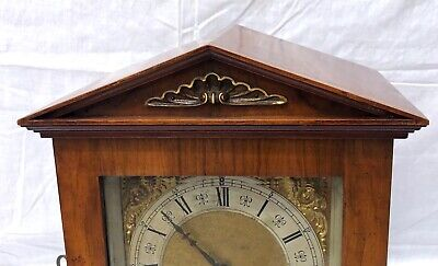 Antique Architectural LENZKIRCH Walnut TING TANG Bracket Mantel Clock : WORKING 4