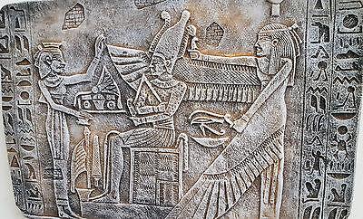 Egyptian Wall Decor God Osiris Nephthys priest Antique Reproduction