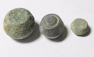 Zurqieh -Aa1977- 3 Ummayyad Bronze Weights (Waznah),  7- 8Th Cent. A.d 3