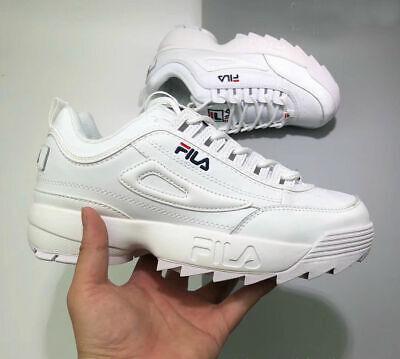 2019 New FILADisruptor II 2 White Shoes Unisex Size UK 3-9 Free Shipping gift 5