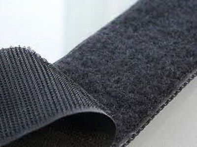 Stitch on tape in black VELCRO® BRAND Sew on tape Hook and Loop 100mm wide