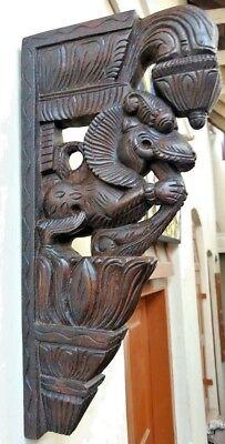 Wall Bracket Corbel Pair Hindu Temple Yalli Architectural Dragon Sculpture Art 4