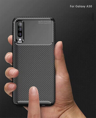 For Samsung Galaxy A30 A50 Matte Frosted Protective TPU Back Cover Carbon Case 7