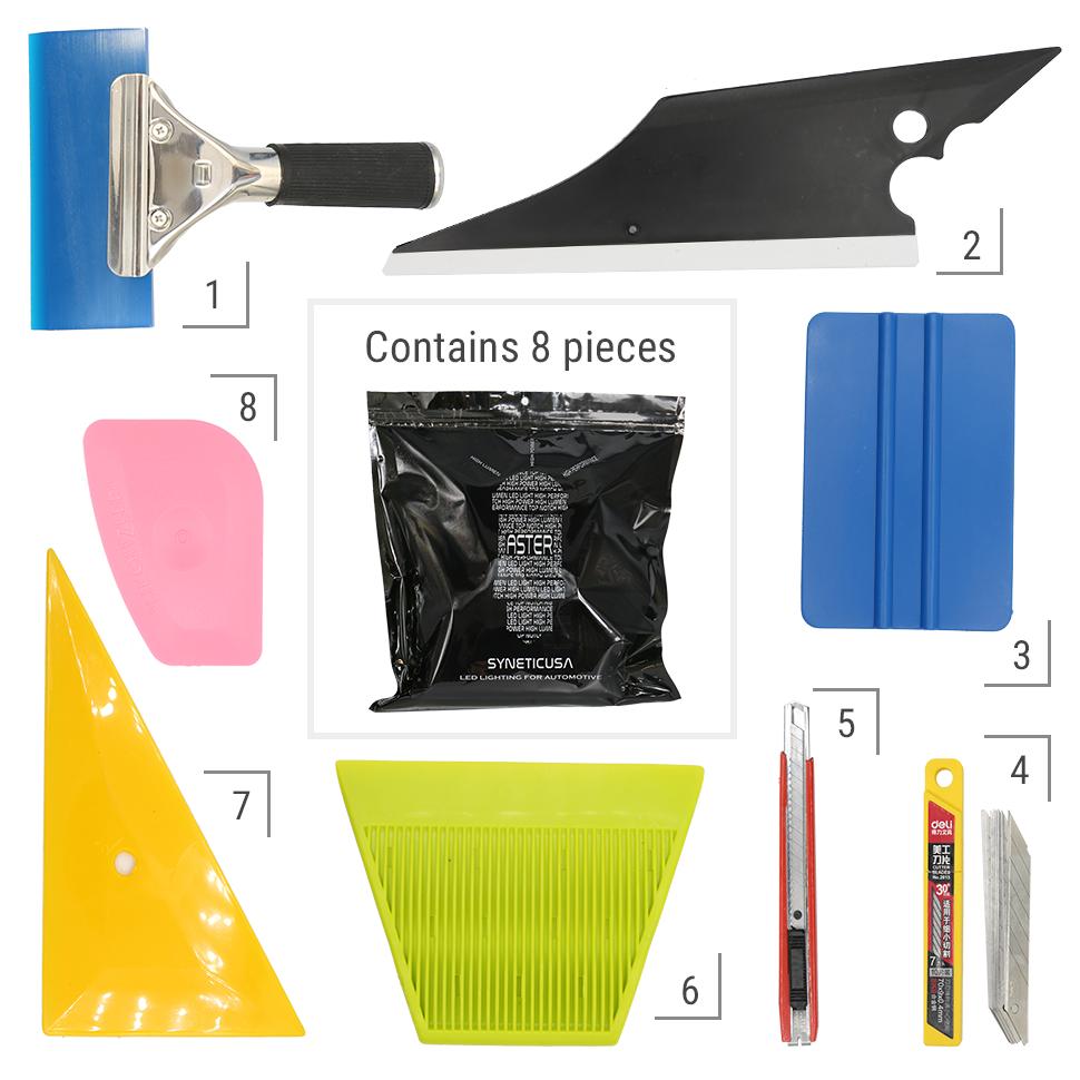Pro Car Window Tint 8 PCS Kits Wrapping Vinyl Tools+Squeegee Scraper+Applicator 5