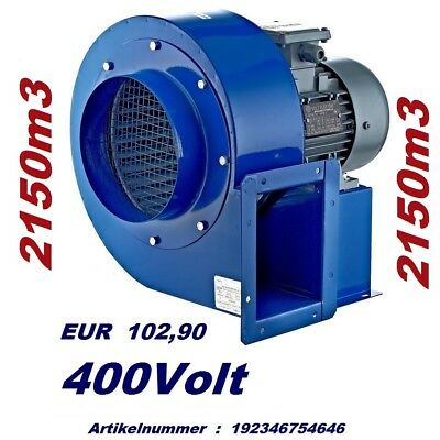 Extracteur d'air Industriel Radial VENTILATEUR CENTRIFUGE Aspiration ventilation 6