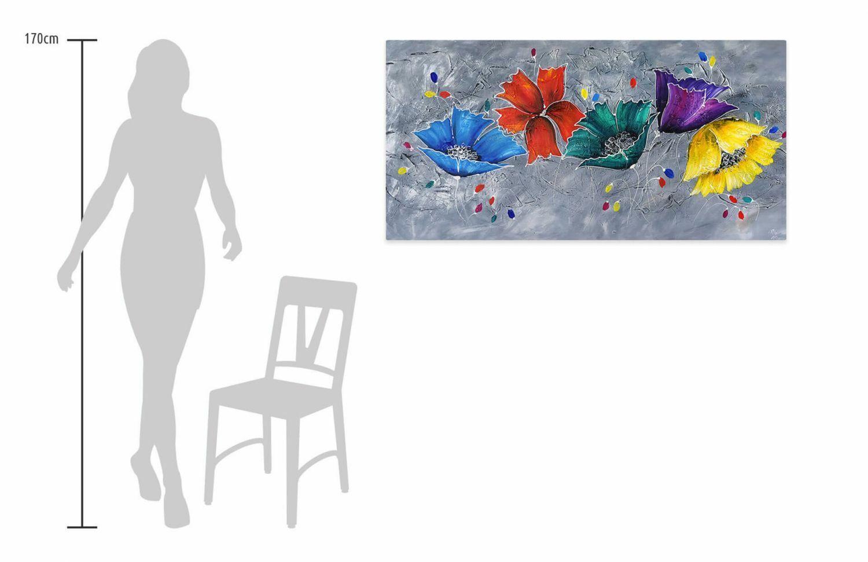 Acryl Gemälde 'COULEUR IM GRAPHIT' | HANDGEMALT | Leinwand Bilder 140x70cm 7