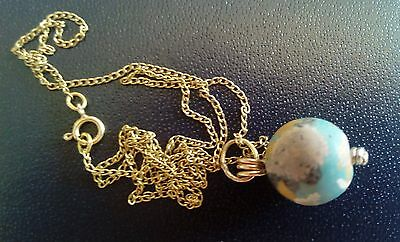 Vintage 14K Gold Necklace With 2,000 Year Old Ancient Eastern Mediterranean Bead 8