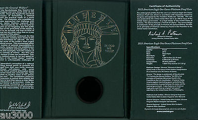 2013-W $100 PLATINUM EAGLE 1 Oz. PCGS PF70 PROOF PR70 FIRST STRIKE FS BOX & COA 4