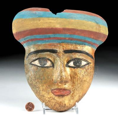 Egyptian Gilded / Painted Wood Mummy Mask Lot 9