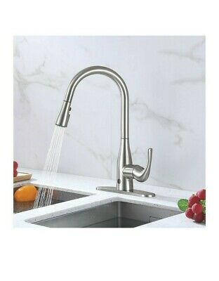 Biobidet Flow Motion Activated Pull Down Kitchen Faucet Brushed Nickel New 114 99 Picclick