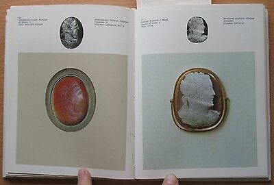 Russian Book Antique Cameo Art Old Miniature Portrait Stone Vintage European VTG 4
