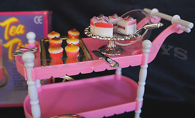 Genial 3 Of 7 GLORIA FURNITURE SIZE TEA TIME CART SET 4 Servings PLAYSET FOR  BARBIE DOLLHOUSE