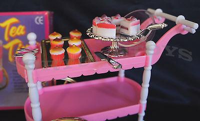 Superieur 3 Of 7 GLORIA FURNITURE SIZE TEA TIME CART SET W/Cake PLAYSET FOR BARBIE  DOLLHOUSE