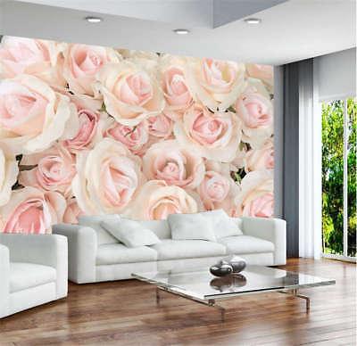 Vibrant Rosy Flower 3D Full Wall Mural Photo Wallpaper Printing Home Kids Decor