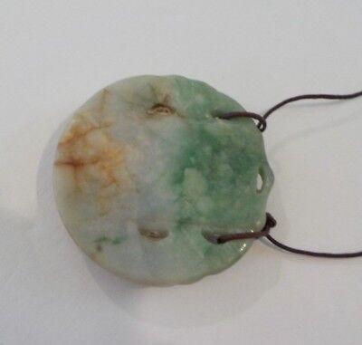 Chinese Carved Jade / Jadeite Stone Medallion Pendant, Chinese Figure  (#3) 8