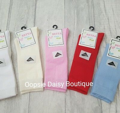 Baby Boys Girls Spanish Style Plain Knee High Socks / Newborn-4yrs
