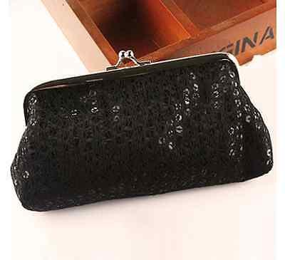 c34389c80e59c ... Tasche Geldbörse Clutch silber bunt Tasche mini Pailletten Kosmetiktasche  klein 5
