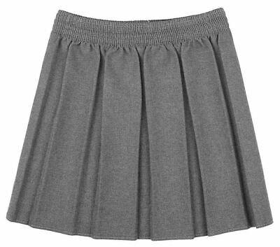 New Girls School Skirts Box Pleated Elasticated Waist Skirt Kids School Uniform 5