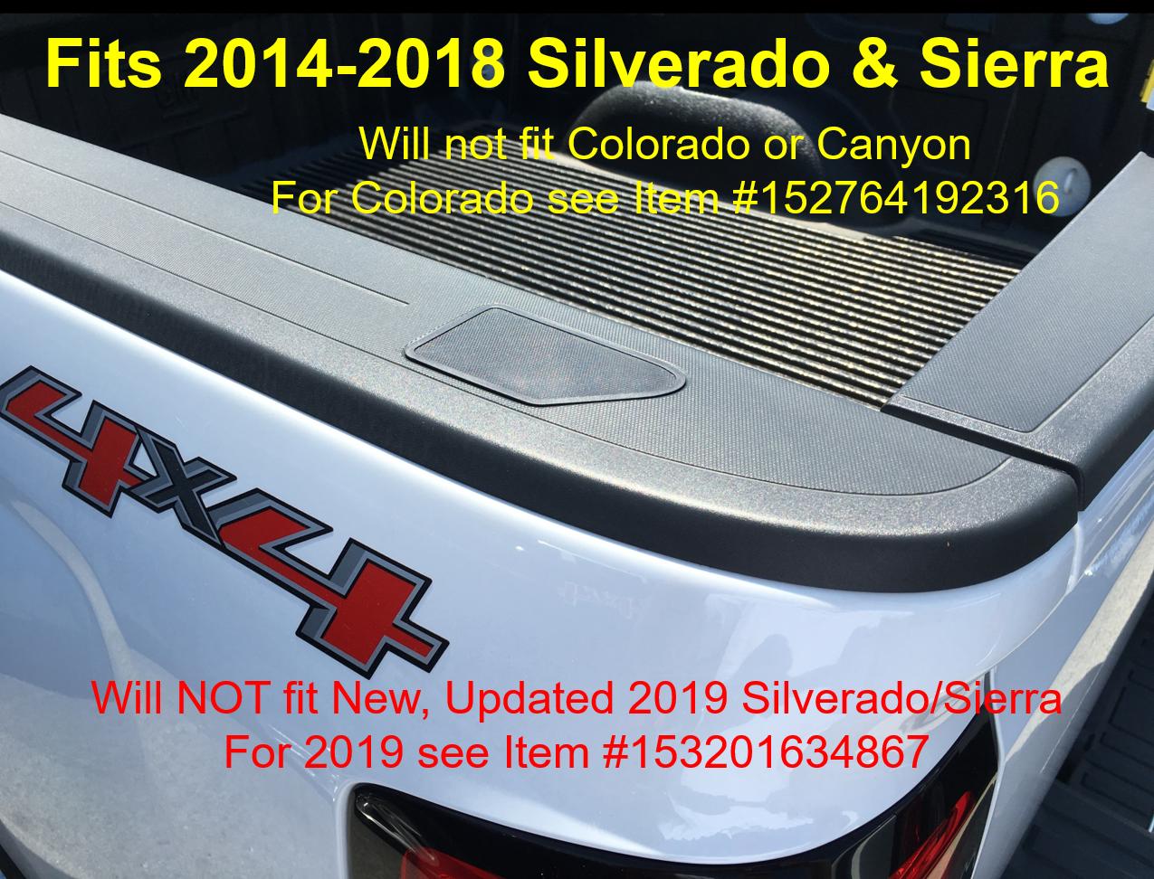 Stake Pocket Covers Caps Rail Hole Plugs 2014-2018 Silverado Sierra Accessories 2