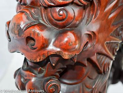 RARE Chinese 19C CARVED DRAGON Rosewood Library/Foyer TABLE Exlnt!! 4