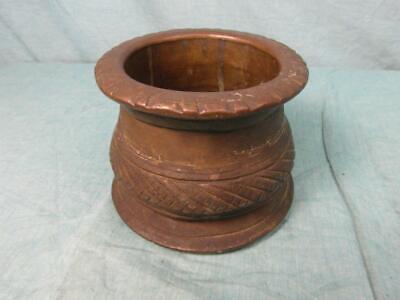 Mörser Antik Mörsergefäß um 1910 Bronze Messing Schwer Zerkleinern Unique o7b5 2