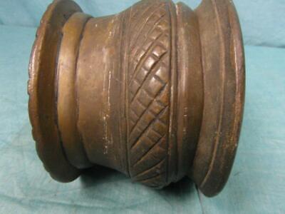 Mörser Antik Mörsergefäß um 1910 Bronze Messing Schwer Zerkleinern Unique o7b5 9