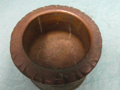 Mörser Antik Mörsergefäß um 1910 Bronze Messing Schwer Zerkleinern Unique o7b5 5
