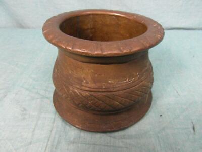 Mörser Antik Mörsergefäß um 1910 Bronze Messing Schwer Zerkleinern Unique o7b5 10