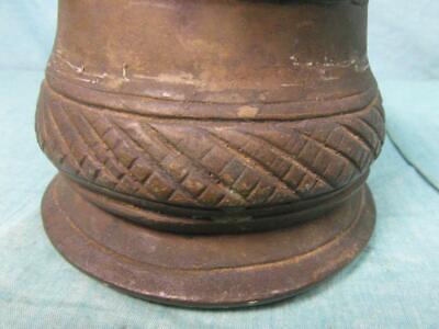 Mörser Antik Mörsergefäß um 1910 Bronze Messing Schwer Zerkleinern Unique o7b5 3