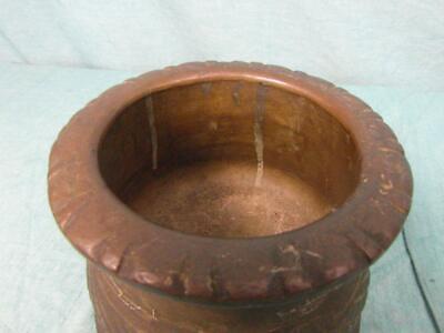 Mörser Antik Mörsergefäß um 1910 Bronze Messing Schwer Zerkleinern Unique o7b5 4