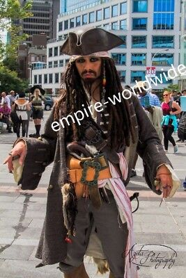 4 db JACK SPARROW Flower waist belt buckle pirate 3