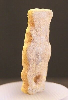 Ancient Egyptian Yellow Faience Amulet Of God Bes; 18Th Dynasty 1550-1292 Bc!! 5