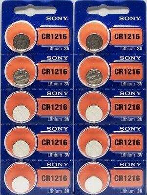 CR 1216 SONY LITHIUM BATTERIES (2 piece) 3V Watch New Authorized Seller