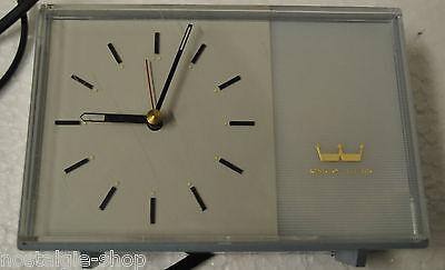 Original 50er 60er Table Clock Grandfather Westclox Electric Watch Pastel Blue