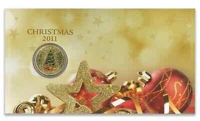 Australia 2011 Christmas Tree $1 One Dollar Coloured UNC Coin Perth Mint 2