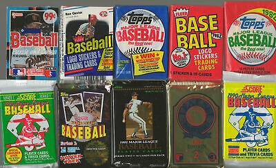 HUGE Lot of 100 Unopened Old Vintage Baseball Cards in Wax Cello Rack Packs 2