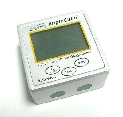 iGaging Angle Cube Digital Protractor Gauge Magnetic Angle & Level Sensor Bevel 8