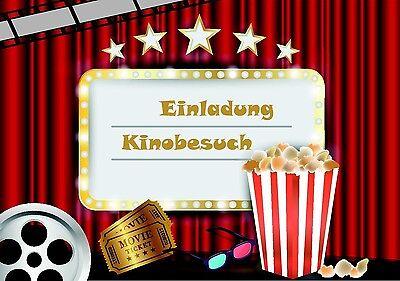 1 Von 5 1 Einladungskarten Kindergeburtstag Im Set Kino Party Cool Jungen  Mädchen Emoji