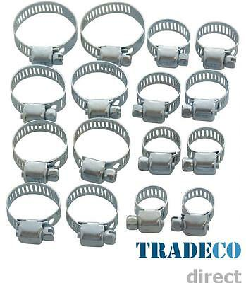 304ss British Type Stainless Steel Hose Clips Pipe Clamps Multi  Size