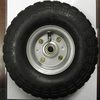 "10"" x 3"" Pneumatic Wheel 5/8"" Axle Use For Hand Truck Wheelbarrow ETC. 1008"