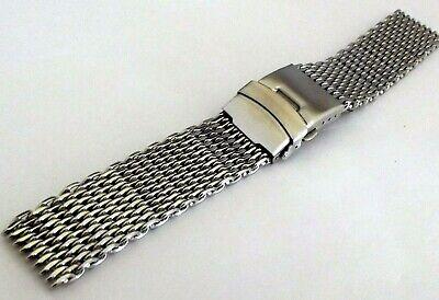 bracciale mesh shark massiccio orologi acciaio maglia milano silver ansa 20 mm 3